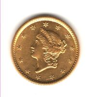 1853 $1 GOLD MS IN GRADE BETTER DATE ONE DOLLAR GOLD PIECE 1