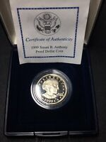 1999 P CLAD PROOF DCAM SUSAN B ANTHONY DOLLAR IN IN MINT BOX