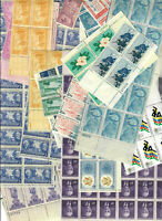 US $102.00 FACE MINT POSTAGE LOT OF 3   18 VALUES IN SINGLES