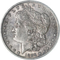 1884 O MORGAN SILVER DOLLAR ABOUT UNCIRCULATED AU SEE PICS F588