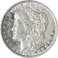 1890 O MORGAN SILVER DOLLAR ABOUT UNCIRCULATED AU SEE PICS G332