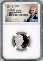2020-S JEFFERSON NICKEL OFFICIAL US MINT SET FIRST RELEASES NGC PF69 ULTRA CAMEO