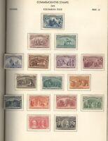 US COMPLETE UNUSED COLUMBIANS FANTASTIC STAMP COLLECTION HIN