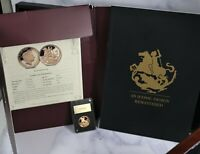 2017 GIBRALTAR GOLD SOVEREIGN 200 YEAR ANNIVERSARY PROOF COI