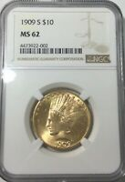 Click now to see the BUY IT NOW Price! 1909 S TEN DOLLAR INDIAN HEAD  COIN GREAT COLOUR NGC MS62  NICE FOR GRADE