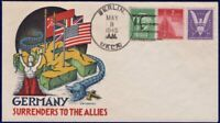 STAEHLE WORLD WAR II EVENT COVER : 1945 GERMANY SURRENDERS W