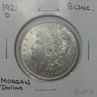1921 MORGAN SILVER DOLLAR LUSTROUS AND CHOICE WITH DIE SPIKE & DIE CRACKS
