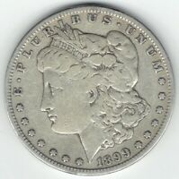 1899-S $1 MORGAN SILVER DOLLAR SEMI-KEY VF DETAILS LIKELY CLEANED