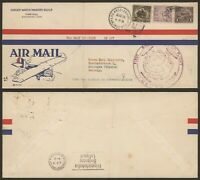 USA 1929   ZEPPELIN FLIGHT AIR MAIL COVER TO GERMANY U477