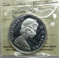 CANADA 1965 TYPE 4 POINTED 5 LG BEADS PROOF LIKE 66 ICCS HEAVY CAMEO GEM COIN