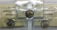 CANADA 1938 39 1943 10 CENT  SILVER GEORGE VI ICCS GRADED GROUP OF 3 DIFFERENT