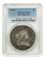 1799 $1 PCGS VF25 B-17, BB-164 GREAT TYPE EXAMPLE - BUST SILVER DOLLAR