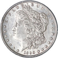 1890 S MORGAN SILVER DOLLAR ABOUT UNCIRCULATED AU SEE PICS J975