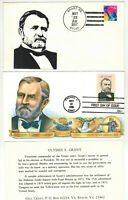 PRESIDENT ULYSSES S GRANT SET OF 4 FDCS   SPECIAL CANCELS IN