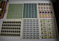 9 FULL SHEETS OF UNUSED US POSTAGE  STAMPS $27.90 FACE VALUE