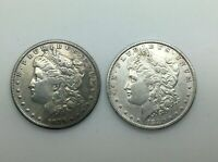 1879O & 1880O MORGAN SILVER DOLLAR PAIR OF NEW ORLEANS COINS MID GRADE OR BETTER