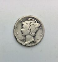 1921 MERCURY  DIME SOLID ORIGINAL LOWER GRADE  BETTER KEY DATE COLLECTOR COIN