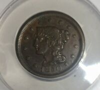 1850  LARGE CENT PLEASING ANACS EF 45 STRAIGHT GRADE GLOSSY MID BROWN NICE COIN