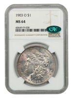 1903-O $1 NGC/CAC MINT STATE 64 - LOW MINTAGE DATE - MORGAN SILVER DOLLAR