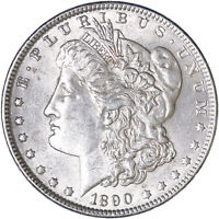 1890 MORGAN SILVER DOLLAR ABOUT UNCIRCULATED AU SEE PICS H999