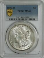 1899-O MORGAN SILVER DOLLAR $ MINT STATE 66 SECURE PCGS 944493-10