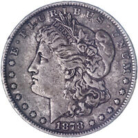 1878 MORGAN SILVER DOLLAR 7 TAIL FEATHERS REVERSE OF 79  FINE SEE PICS L023