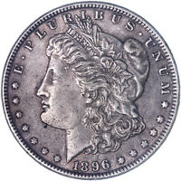1896 MORGAN SILVER DOLLAR ABOUT UNCIRCULATED AU SEE PICS L059