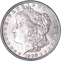 1900 MORGAN SILVER DOLLAR ABOUT UNCIRCULATED AU SEE PICS L061
