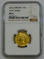 GREAT BRITAIN   1853   GOLD SOVEREIGN