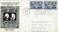 1947 FDC 947 3C STAMP CENTENARY CROSBY