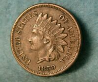 1859 INDIAN HEAD PENNY SMALL CENT HIGH GRADE UNITED STATES C