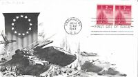1943 FDC 907 2C NATIONS UNITED ARISTOCRAT DAY LOWRY CACHET