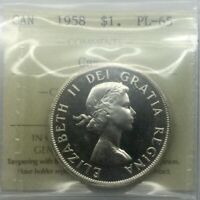 CANADA 1958 PROOF LIKE PL65 CAMEO ICCS GRADED GEM NICE CAMEO BOTH SIDES