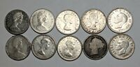 LOT OF 10 CANADA SILVER 10 CENTS   187548S