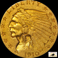 1910 2.50 GOLD INDIAN LOT 6000