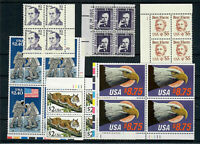 US $84.00 FACE MINT / NH LOT OF HIGH DENOMINATION PLATE BLOC