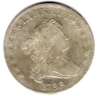 1799 DRAPED BUST DOLLAR VF   IN GRADE SCARCE EARLY TYPE COIN