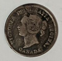 1880 H 5 CENT CANADA .925 SILVER 186598D