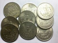 1921 PHILADELPHIA LOT OF 9 MIXED SILVER DOLLARS SOME NICER  GRADE COINS