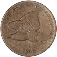 1858 FLYING EAGLE CENT SMALL LETTERS FINE PENNY FN SEE PICS G690