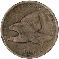 1858 FLYING EAGLE CENT SMALL LETTERS GOOD PENNY GD SEE PICS G689