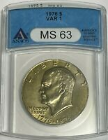 1976 P $1 ANACS MINT STATE 63 CLAD EISENHOWER DOLLAR IKE UNCIRCULATED