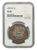 1879-CC $1 NGC EXTRA FINE 40 - KEY DATE FROM CARSON CITY - MORGAN SILVER DOLLAR