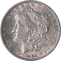 1904 MORGAN SILVER DOLLAR ABOUT UNCIRCULATED AU SEE PICS L347