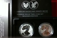 IN HAND  NEW AMERICAN EAGLE 2021 SILVER REVERSE PROOF TWO C