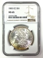 1883-CC MORGAN SILVER DOLLAR - PCGS MINT STATE 65 - WOW LUSTER - CARSON CITY