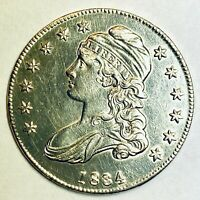1834  MS   CAPPED BUST HALF DOLLAR SILVER   LETTERED EDGE SD