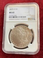1879 O MORGAN DOLLAR  CERTIFIED MINT STATE 62 BY NGC  7072003
