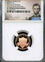 2020 S LINCOLN CENT FIRST DAY OF RELEASES FROM 10 COIN SILVE
