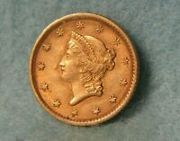 1852 LIBERTY HEAD UNITED STATES ONE $1 DOLLAR GOLD COIN SHAR